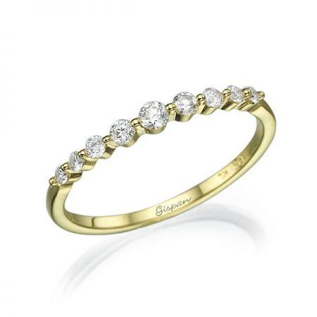 טבעת אירוסין עדינה זהב צהוב