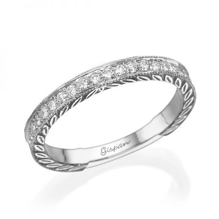 טבעת יהלומים RD1828 - גיספן טבעות יהלומיםן
