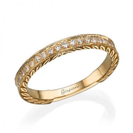 טבעת יהלומים צהוב RD18281 - גיספן תכשיטים