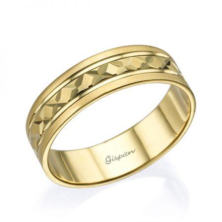 טבעת נישואין זהב צהוב