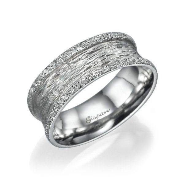 טבעת בטקסטורת מט ונצנצים