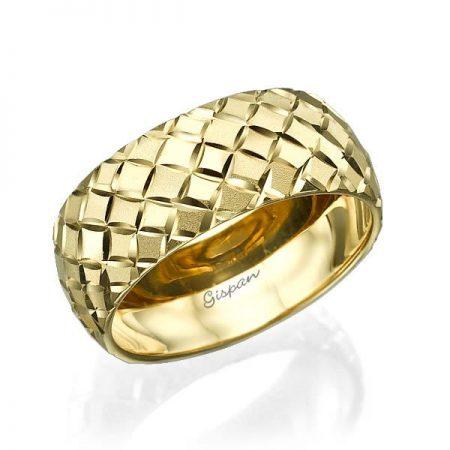 טבעת נישואין מעוצבת 14K