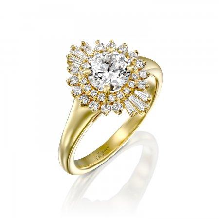 טבעת וינטאג' זהב צהוב