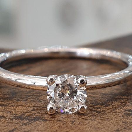 טבעת אירוסין סוליטר דקה יהלום 0.20
