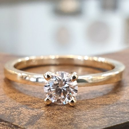 טבעת סוליטר יהלום מעבדה